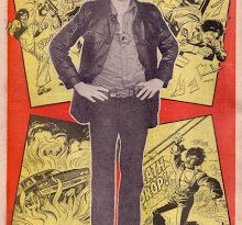 The back cover of the first issue of Bullet, featuring Garry Fraser as Fireball