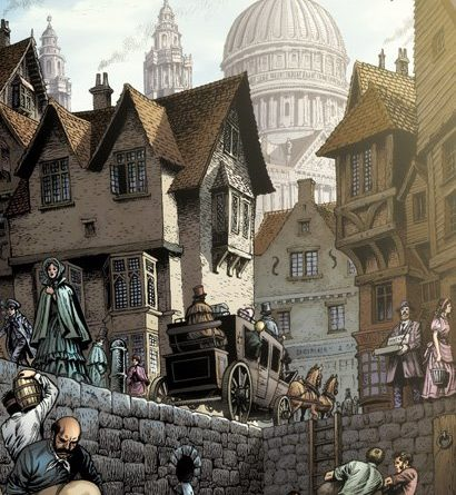"Art from Classical Comics ""Great Expectations"" adapted by Jen Green, art by John Stokes"