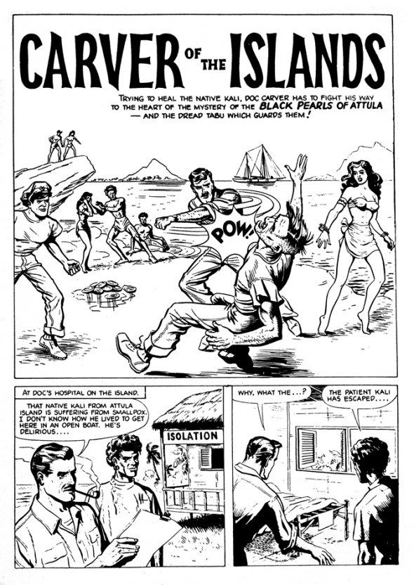 'Carver of the Islands', Joe Colquhoun's first published strip, published in 1951.