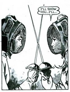 A panel from 'Suzette of the Silver Sword', a strip Redondo drew for Diana in the 1960s