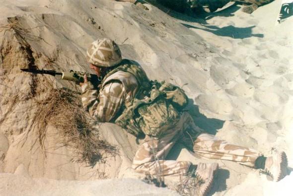 British Soldier D=during Operation Desert Shield