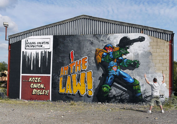Judge Dredd Mural by Soulful Creative