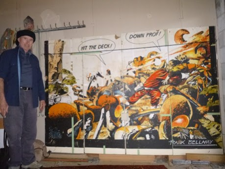 Evan Jenkins with his mystery Colin Wilson Dan Dare mural