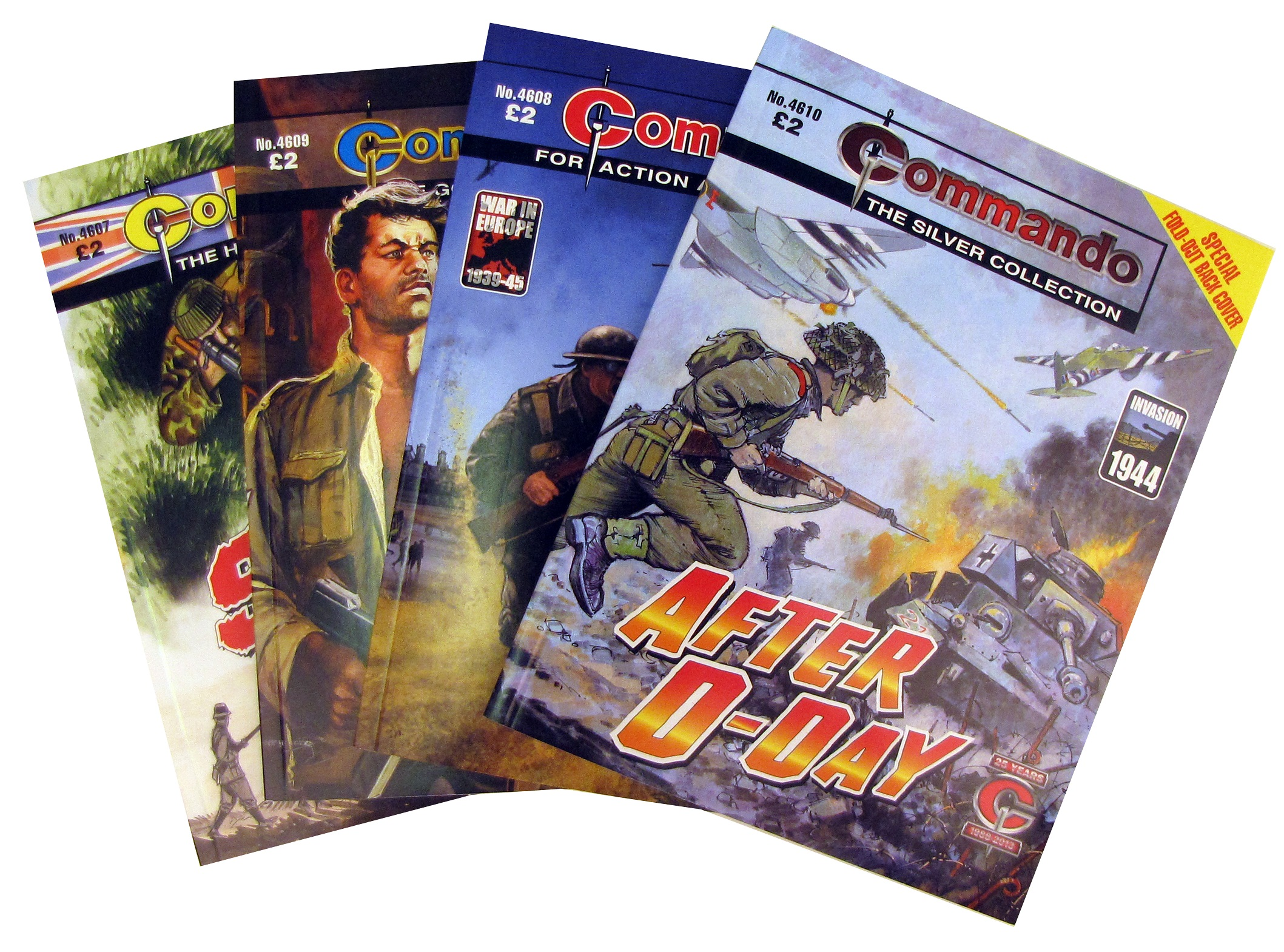 Commando Gatefold Covers