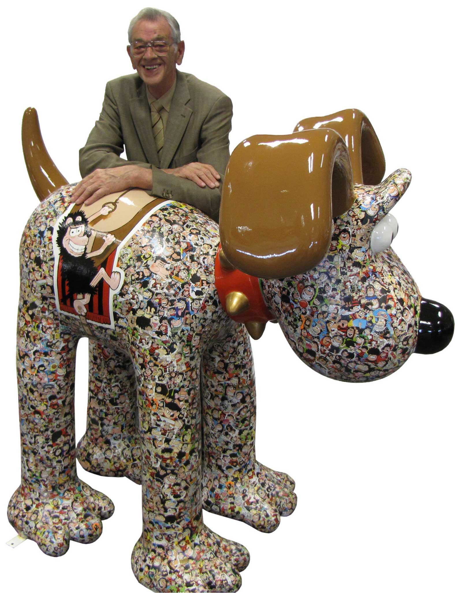 Artist David Sutherland with 'Gnashional Gromit.'