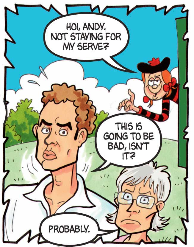 Andy Murray and mum in The 75th anniversary edition of The Beano