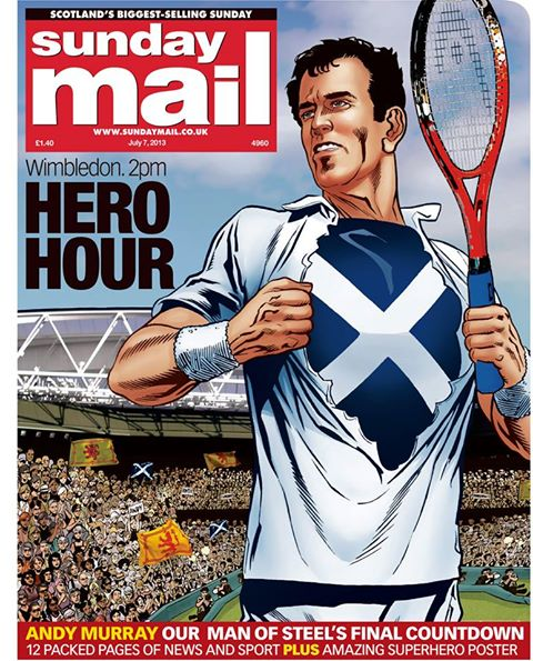 Sunday Mail cover, 7th July 2013