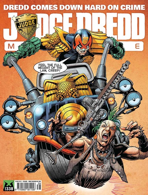 Judge Dredd Megazine Issue 313, cover by Cliff Robinson