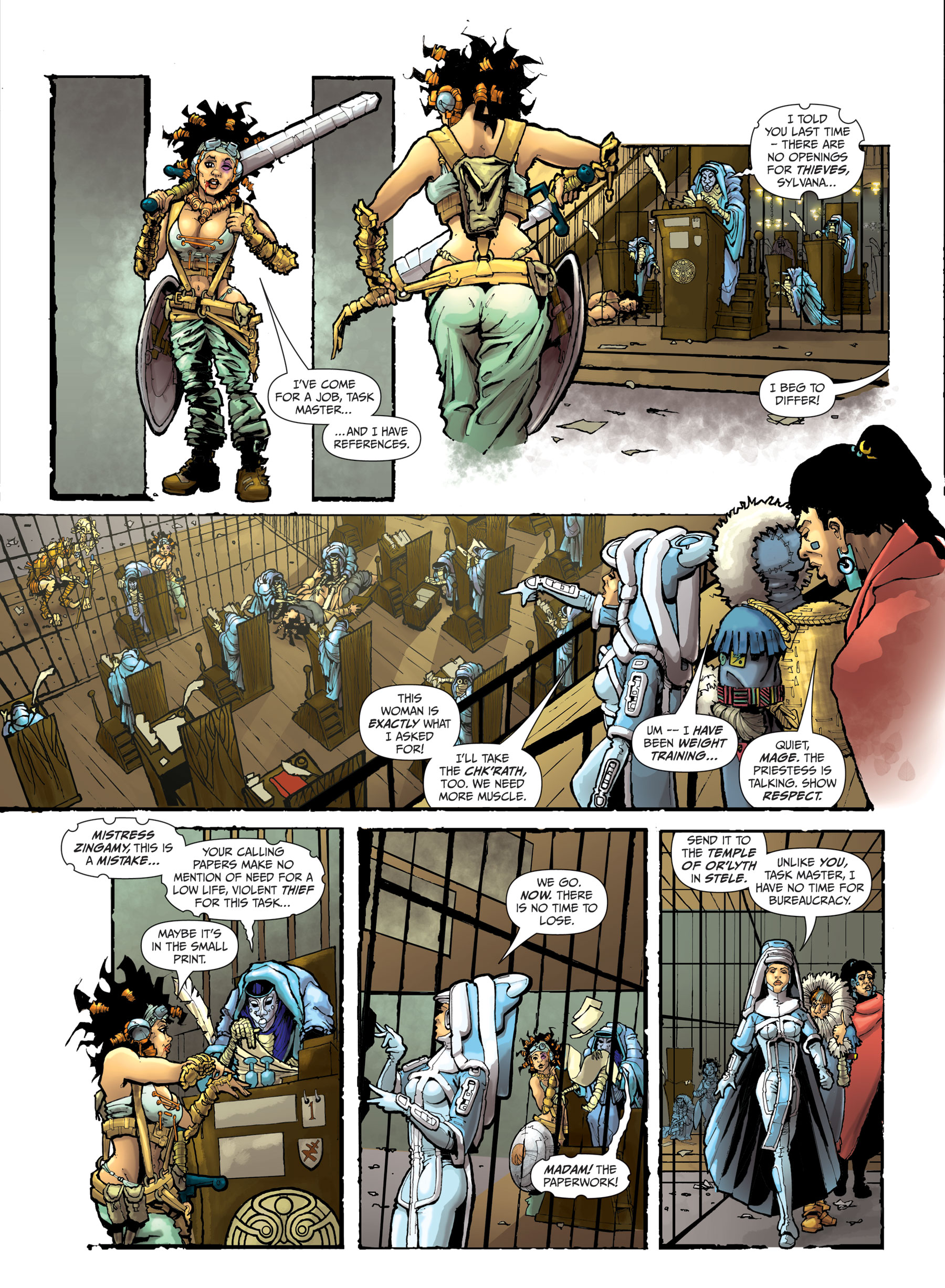 Crucible Book One - The Quest Part 1, Page 2. © John Freeman & Smuzz