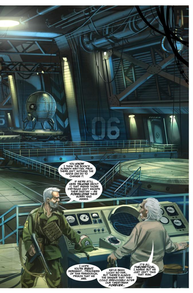 Preview art from Titan Comics Chronos Commados #2 by Stuart Jennett