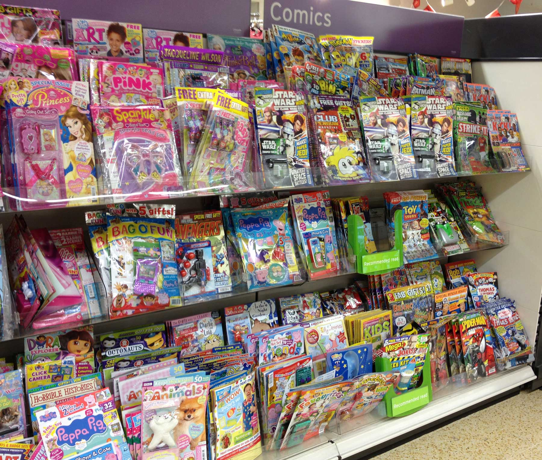 Sainsbury's Lancaster Comic Rack, February 2013