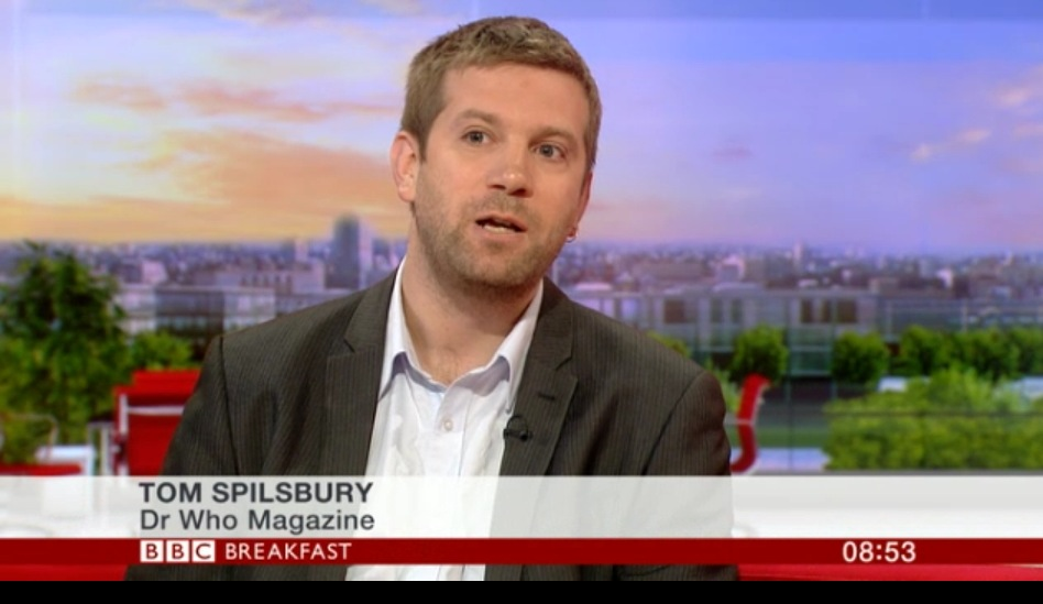 Doctor Who Magazine editor Tom Spilsbury on BBC Breakfast in 2013