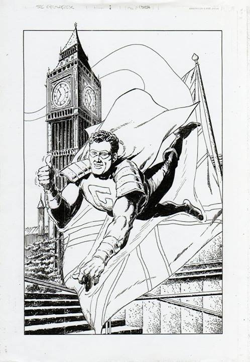 The Golden Grenadier, an unpublished Marvel UK charater. Two issues were completed.