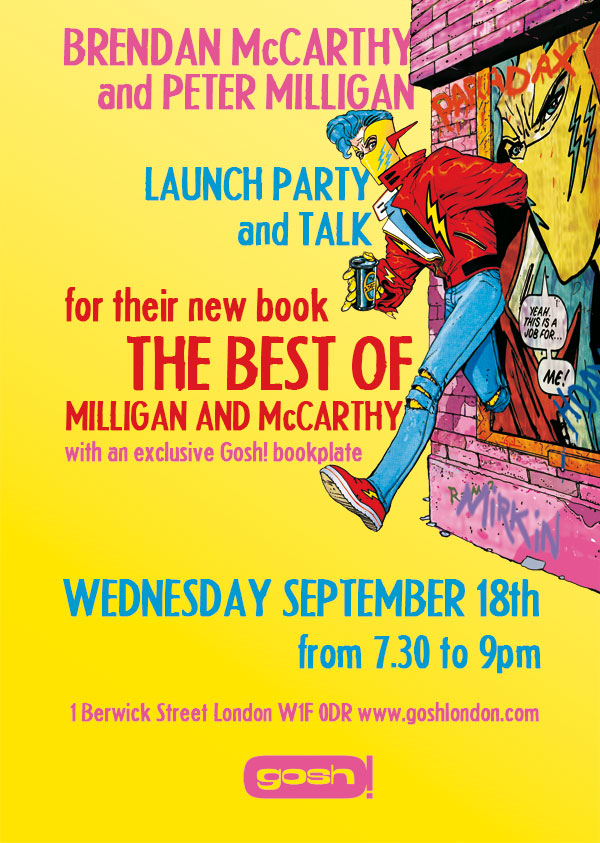 Milligan and McCarthy book launch at Gosh London