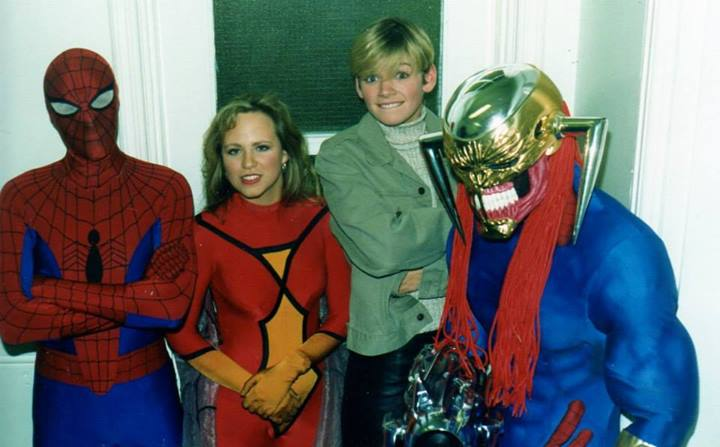 A young Zoe Ball takes in the delights of Marvel UK while filming for some wonderful telly show or other. Photo: Tim Quinn