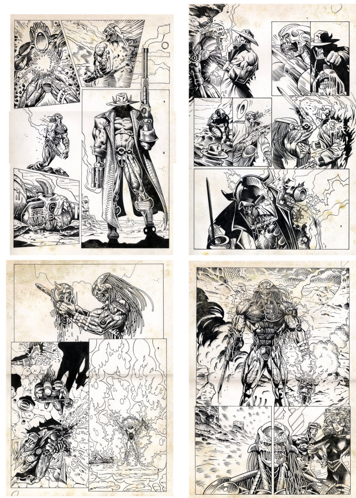 Original Death's Head II pages for the first Death's Head II Mini Series