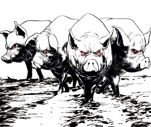 Sentient Zombie Space Pigs - Sample Panel