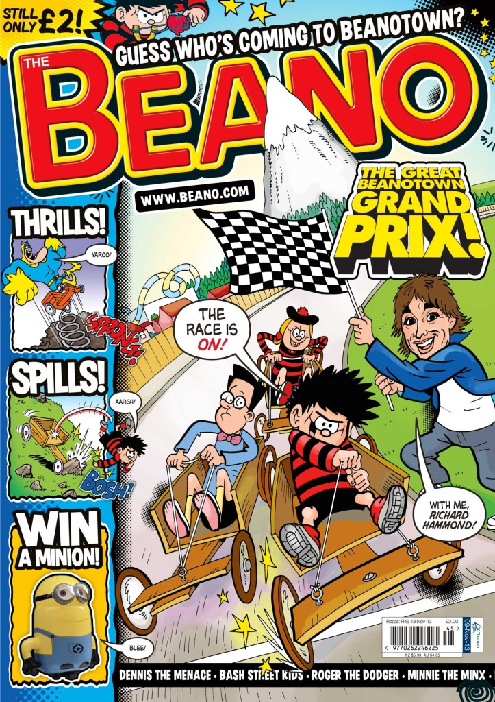 The Beano gets a Top Gear makeover courtesy of guest star and editor TV presenter Richard Hammond this week. Image © DC Thomson