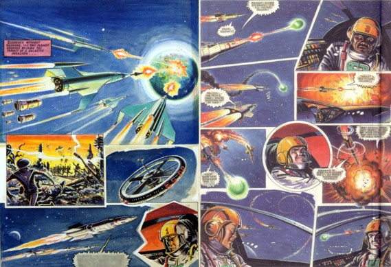 "Art by Joe Colquhoun, commissioned for an Eagle ""dummy"" proposed in the 1970s, with Dan in charge of ""Eagle Force"""