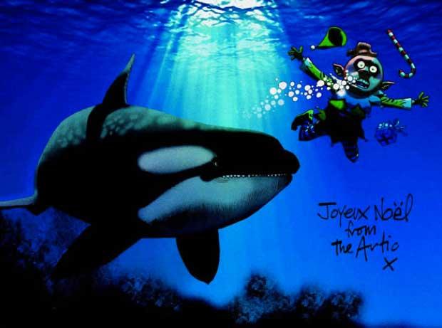 "Greenpeace ""Save Santa's Home"" Card by Jamie Hewlett"