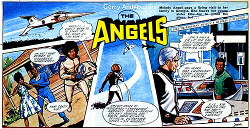 """""""The Angels"""" drawn by Jon Davis for Lady Penelope comic in the 1960s"""