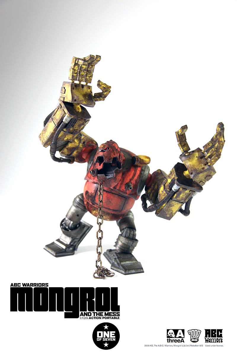 Dance for joy, Earthlets - 3A are relaunching their 2000AD model figure range