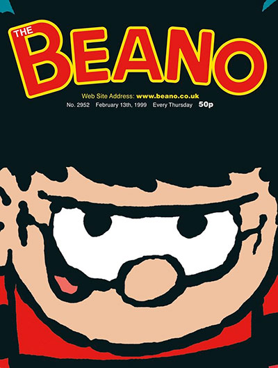 Professional Publisher Association: Cover of the Century Awards Runner Up: The Beano, February 1999, Dennis the Menace