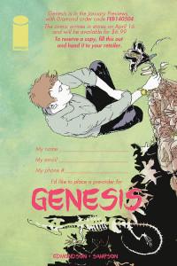 Image Comics - Genesis - Pre-Order Form