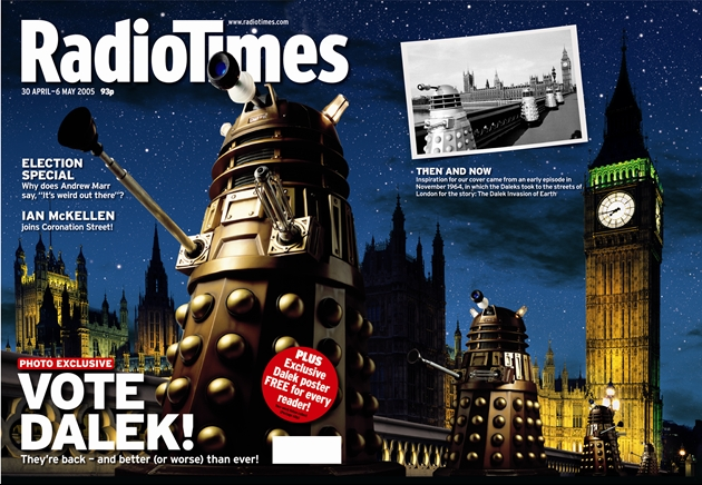 Professional Publisher Association: Cover of the Century Awards: Radio Times 2005 - Daleks Cover