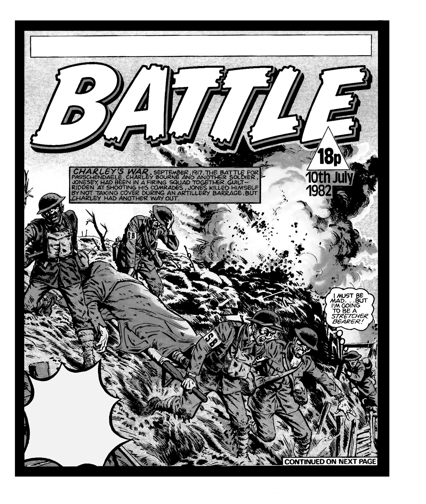"A cracking ""Charley's War"" cover for Battle by Joe Colquhoun. Art © Egmont"