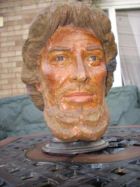 """For sale - the Head of Christ, used by Dan Dare artist Frank Hampson to help him illustrate the Eagle story """"The Road of Courage"""". Photo: Dave Westaway."""