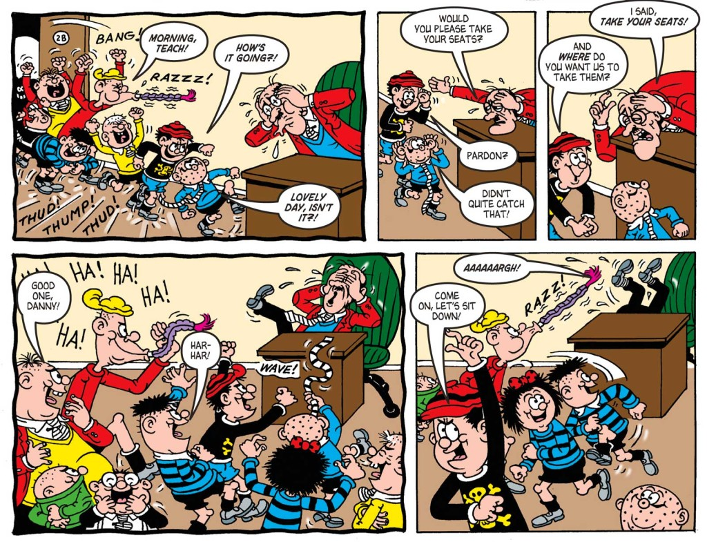 The Bash Street Kids now have a street named after them. Art © DC Thomson