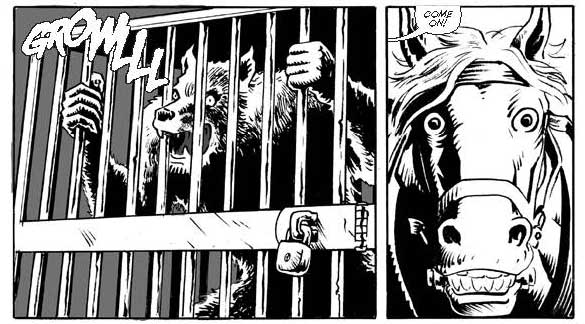Action a-plenty in Wolf Country Issue 2, written by Jim Alexander and drawn by Will Pickering.