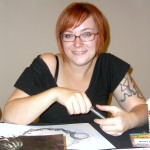 Comic book creator Becky Cloonan at the November 2008 Big Apple Convention in Manhattan. Photo: NightScream