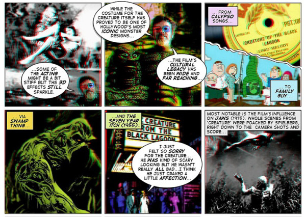 Extract from The Creature from the Black Lagoon 3D review by Paul O Connell