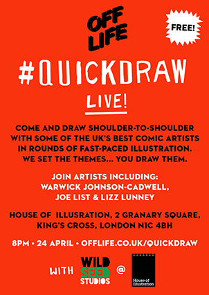 QuickDraw - House of Illustration event
