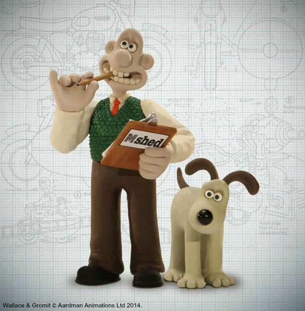 Wallace & Gromit come to Bristol's M-Shed in May 2014. Image © Aardman