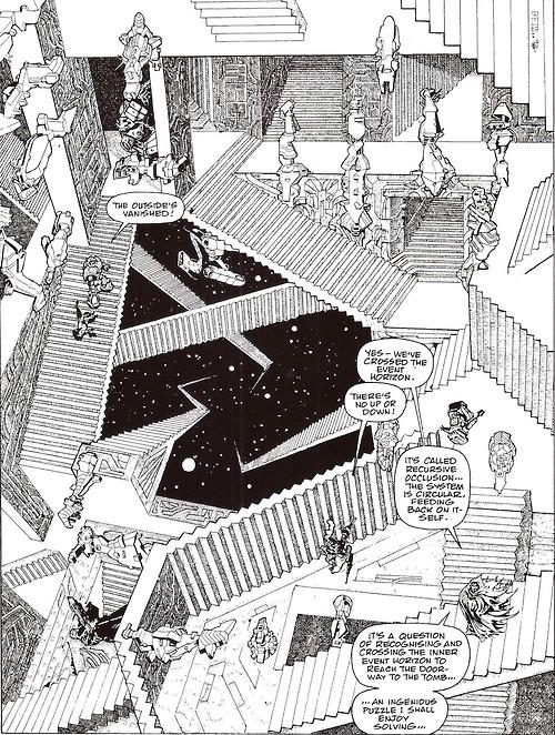 Escher-inspired ABC warriors craziness from Smuzz