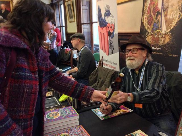 Gilbert Shelton at the Lakes International Comic Art Festival last year. Image courtesy Lakes International Comic Art Festival
