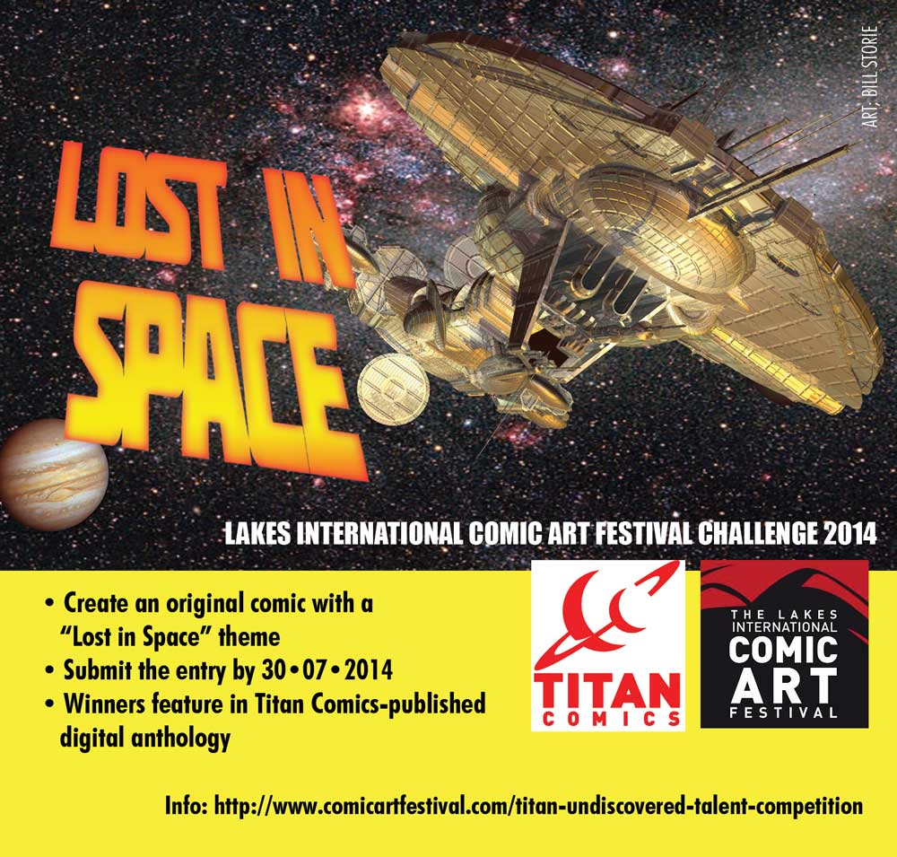 Lost in Space Lakes International Comic Art Festival Competition Promo 2014