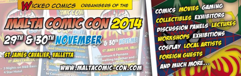 Malta Comic Con 2014 - Banner
