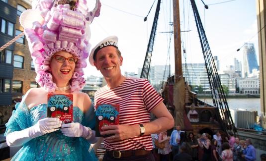 Comic creators Sarah McIntyre and Phillip Reeve