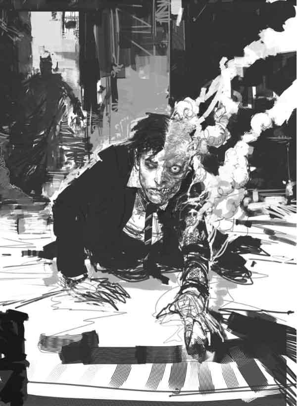 Dark Knight Concept Art by Rob Bliss