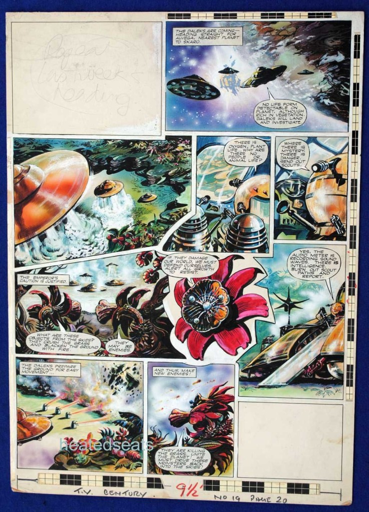 """This page from """"The Daleks"""" featured in TV Century 21 Issue 19."""