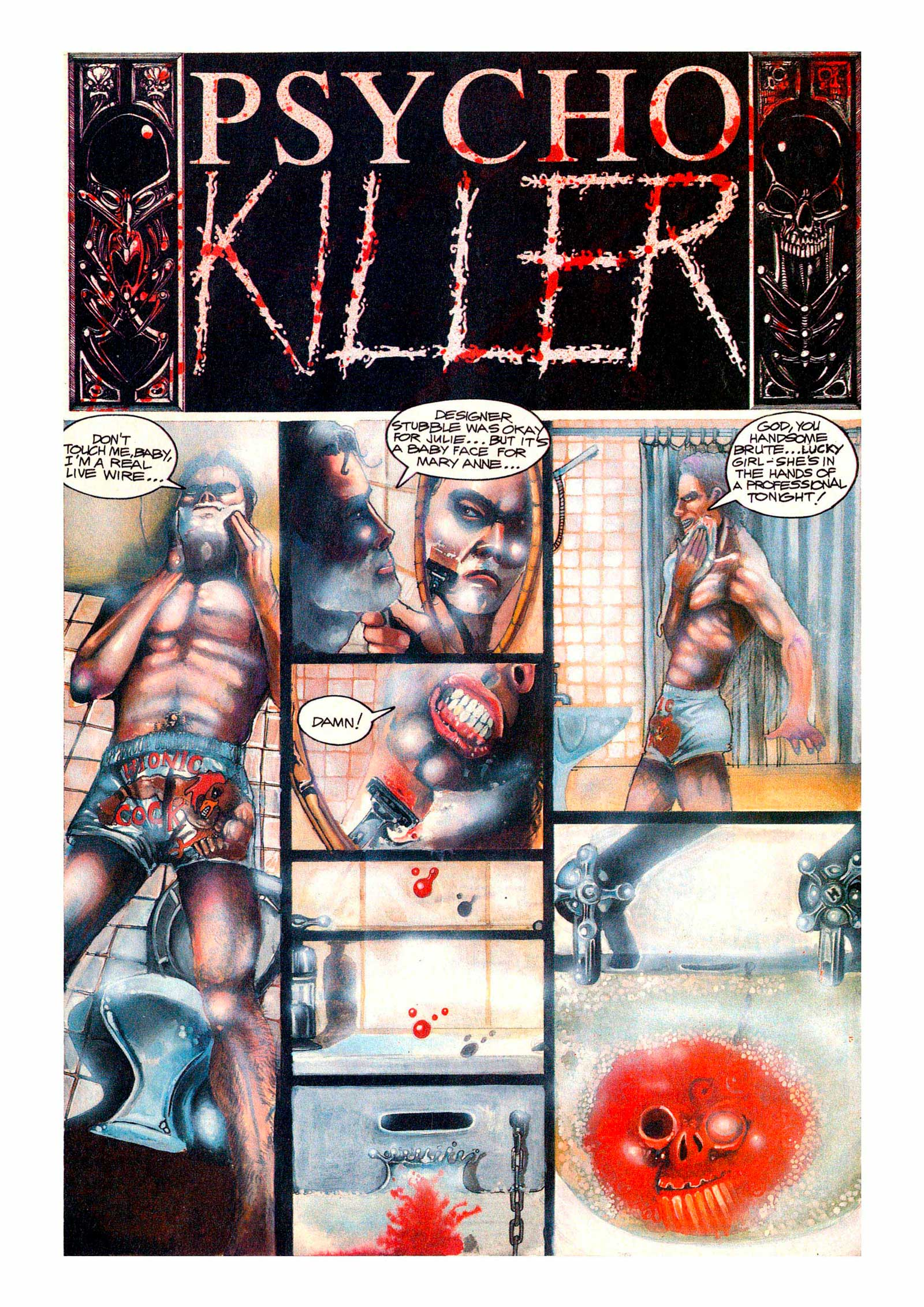 PsychoKiller, written by Pat Mills, co-written with Tony Skinner, with superb fully painted artwork by Dave Kendall, is the first Millsverse digital title.