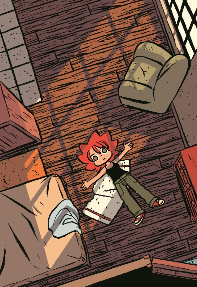 Katie, the main protagonist in Bryan O'Malley's Seconds. Art © Bryan O'Malley