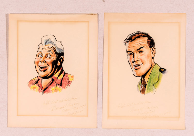Two Dan Dare sketches by Don Harley are being offered in September's ComPal auction