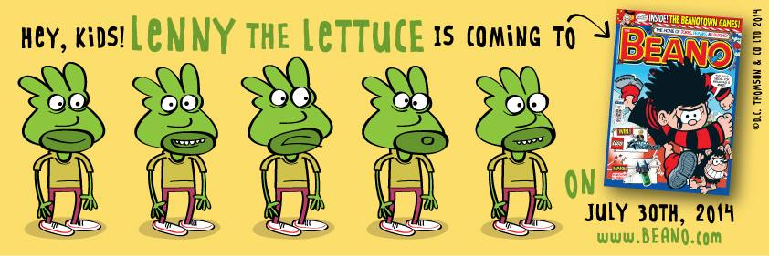"""Lenny the Lettuce by Marc Jackson - now appearing in The Beano. Art © 2014 DC Thomson"