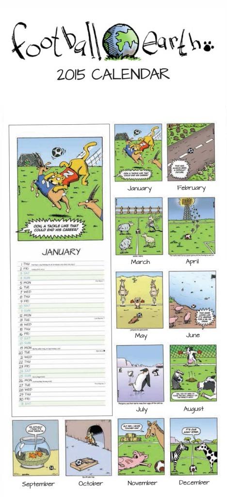 Football Earth Calendar 2015 by Steve English
