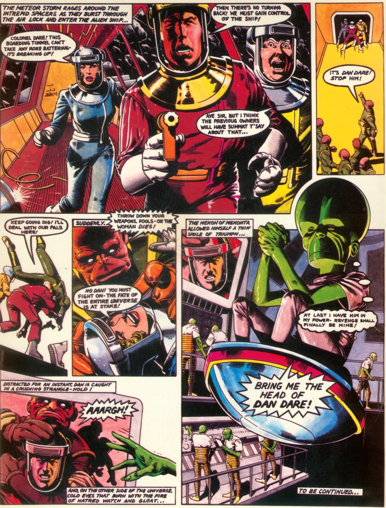 Brian Bolland Dan Dare art which featured in the press pack for the abandoned Dan Dare TV series.